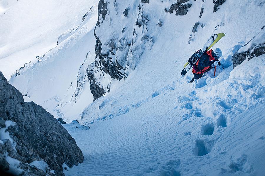 Andreas Sagmeister beim Skifahren